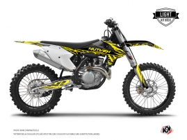 KTM 250 SXF Dirt Bike Eraser Fluo Graphic Kit Yellow LIGHT