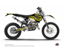 Husqvarna 250 TE Dirt Bike Eraser Fluo Graphic Kit Yellow