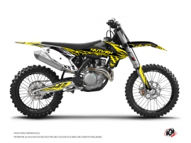 KTM 450 SXF Dirt Bike Eraser Fluo Graphic Kit Yellow