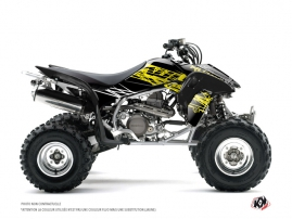 Honda 450 TRX ATV Eraser Fluo Graphic Kit Yellow
