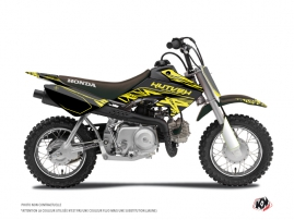 Honda 50 CRF Dirt Bike Eraser Fluo Graphic Kit Yellow