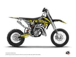 KTM 50 SX Dirt Bike Eraser Fluo Graphic Kit Yellow