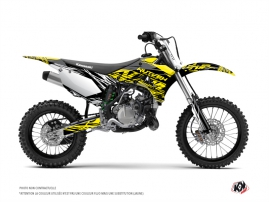 Kawasaki 85 KX Dirt Bike Eraser Fluo Graphic Kit Yellow