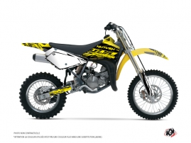 Suzuki 85 RM Dirt Bike Eraser Fluo Graphic Kit Yellow
