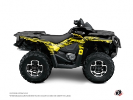Can Am Outlander 400 XTP ATV Eraser Fluo Graphic Kit Yellow