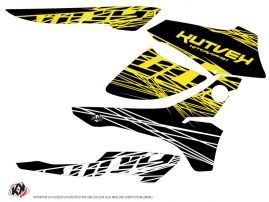 Honda Rancher 420 ATV Eraser Fluo Graphic Kit Yellow