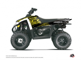 Polaris Scrambler 500 ATV Eraser Fluo Graphic Kit Yellow