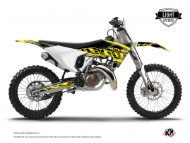 Husqvarna TC 125 Dirt Bike Eraser Fluo Graphic Kit Yellow LIGHT