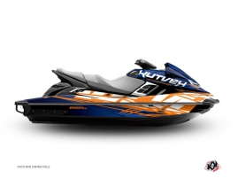 Kit Déco Jet-Ski Eraser Yamaha FX Bleu Orange