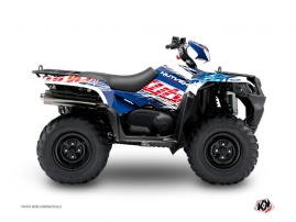 Suzuki King Quad 500 ATV Eraser Graphic Kit Blue Red