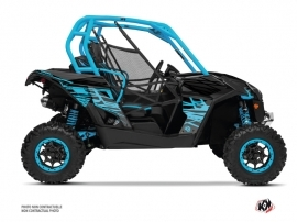 Can Am Maverick UTV Eraser Graphic Kit Blue Grey