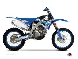 TM MX 300 Dirt Bike Eraser Graphic Kit Blue