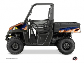 Polaris Ranger 570 UTV Eraser Graphic Kit Blue Orange
