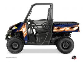 Polaris Ranger 900 UTV Eraser Graphic Kit Blue Orange