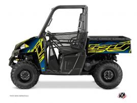 Polaris Ranger 900 UTV Eraser Graphic Kit Neon Blue