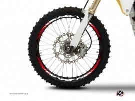 Graphic Kit Wheel decals Dirt Bike Eraser Red White