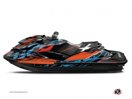 Seadoo RXP 260-300-315 Jet-Ski Eraser Graphic Kit Orange Blue