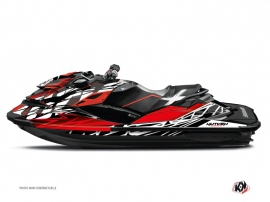 Seadoo RXT-GTX Jet-Ski Eraser Graphic Kit Red White