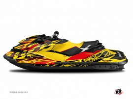 Seadoo RXT-GTX Jet-Ski Eraser Graphic Kit Red Yellow