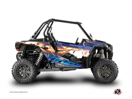Polaris RZR 1000 Turbo UTV Eraser Graphic Kit Blue Orange