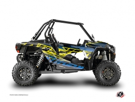 Polaris RZR 1000 Turbo UTV Eraser Graphic Kit Neon Blue