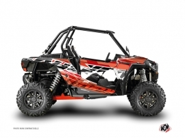 Polaris RZR 1000 Turbo UTV Eraser Graphic Kit Red White