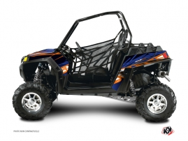 Polaris RZR 570 UTV Eraser Graphic Kit Blue Orange