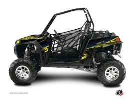 Polaris RZR 570 UTV Eraser Graphic Kit Neon Blue