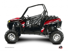 Polaris RZR 570 UTV Eraser Graphic Kit Red White