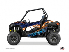 Polaris RZR 900 S UTV Eraser Graphic Kit Blue Orange