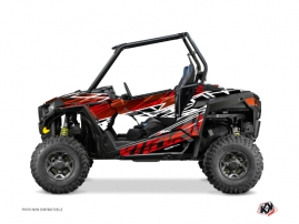 Polaris RZR 900 S UTV Eraser Graphic Kit Red White