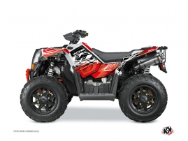 Polaris Scrambler 850-1000 XP ATV Eraser Graphic Kit Red White