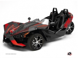 Polaris Slingshot Roadster Eraser Graphic Kit Grey Red
