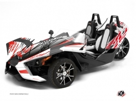 Polaris Slingshot Roadster Eraser Graphic Kit Black Red