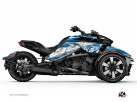 Can Am Spyder F3 Roadster Eraser Graphic Kit Grey Blue