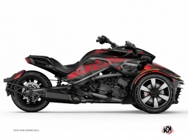 Can Am Spyder F3 Roadster Eraser Graphic Kit Grey Red