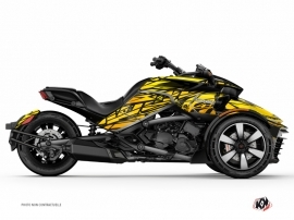 Can Am Spyder F3 Roadster Eraser Graphic Kit Yellow