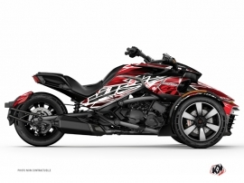 Can Am Spyder F3 Roadster Eraser Graphic Kit Red White