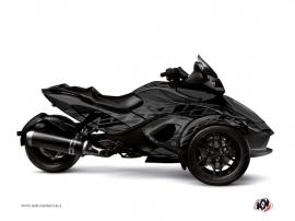 Can Am Spyder RS Roadster Eraser Graphic Kit Black Grey