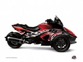 Can Am Spyder RS Roadster Eraser Graphic Kit Red White