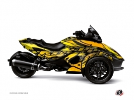 Can Am Spyder RT Roadster Eraser Graphic Kit Yellow