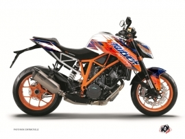 KTM Super Duke 1290 R Street Bike Eraser Graphic Kit Blue Orange