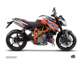 Kit Déco Moto Eraser KTM Super Duke 990 Bleu Orange