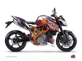 Kit Déco Moto Eraser KTM Super Duke 990 R Bleu Orange