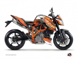 KTM Super Duke 990 R Street Bike Eraser Graphic Kit Orange Black