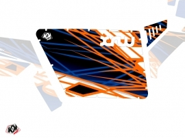 Graphic Kit Doors Standard XRW Eraser UTV Polaris RZR 570/800/900 2008-2014 Blue Orange