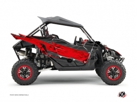 Yamaha YXZ 1000 R UTV Eraser Graphic Kit Black Red