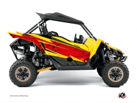 Yamaha YXZ 1000 R UTV Eraser Graphic Kit Red Yellow