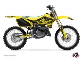 Suzuki 125 RM Dirt Bike Eraser Graphic Kit Yellow Black