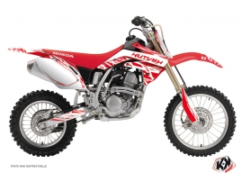 Kit Déco Moto Cross Eraser Honda 150 CRF Blanc Rouge